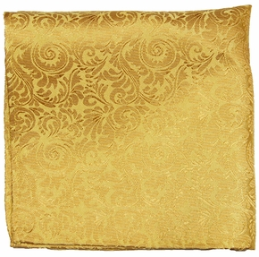 Gold Silk Pocket Square by Paul Malone