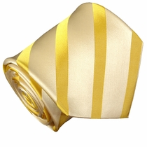 Gold Striped Paul Malone Silk Mens Tie (474)