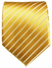Gold Striped Paul Malone Silk Necktie (900)