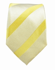 Gold Striped Slim Silk Tie by Paul Malone