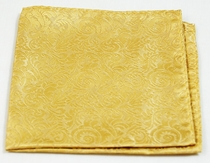 Gold Pocket Square . 100% Silk (H902)