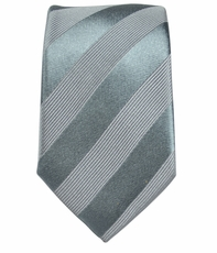 Gray Slim Necktie by Paul Malone . 100% Silk