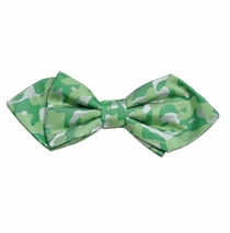 Green Camouflage Silk Bow Tie by Paul Malone Red Line