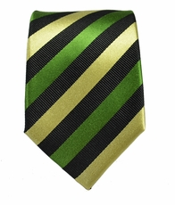 Green, Cream and Black Paul Malone Silk Neck Tie (882)