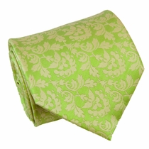 Green Floral Paul Malone Silk Necktie (906)