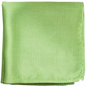 Green Silk Men's Pocket Square (H504)