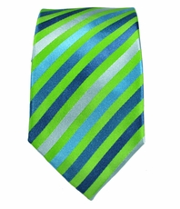 Green Slim Necktie by Paul Malone . 100% Silk