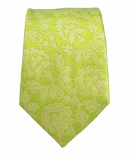 Green Slim Tie by Paul Malone . 100% Silk