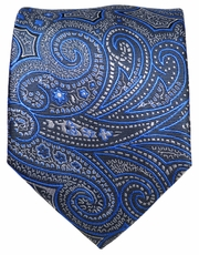 Grey and Blue Paisley Men's Tie