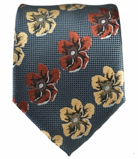 Grey, Beige and Brown Men's Tie