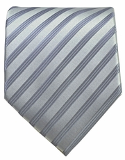 Grey Striped Men's Necktie