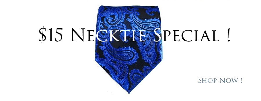 $15 Neckties and Pocket Square Sets
