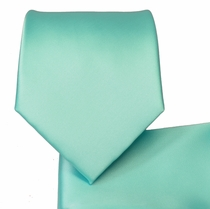 Italian Sky Blue Necktie and Pocket Square (Q100-CCC)