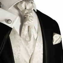 Ivory Mens Tuxedo Wedding Vest by Paul Malone (V41)