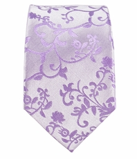 Lavender Slim Silk Tie by Paul Malone