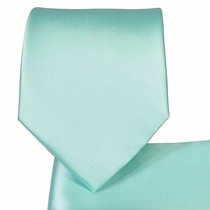 Light Mint Necktie and Pocket Square (Q100-QQ)