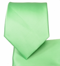 Light Moss Green Necktie and Pocket Square (Q100-DDD)