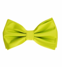Lime Green Bow Tie and Pocket Square Set (BT100-F)