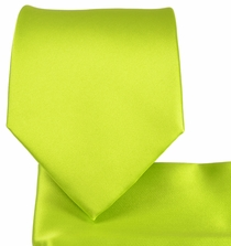 Lime Green Necktie & Pocket Square