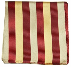 Maroon and Gold silk Pocket Square (H245)