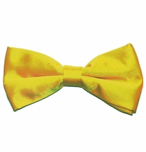 Men's Bow Tie . Pretied . Solid Yellow (BT10-S)