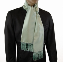 Men's Fashion Scarf . Solid Mint Green (SC100-V)