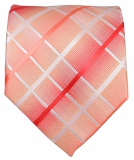 Men's Necktie. Red Plaids