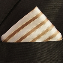 Mens Brown Silk Handkerchief (H694)