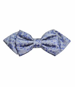 Metallic Blue Silk Bow Tie by Paul Malone Red Line