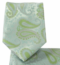 Morning Mist Tie and Pocket Square Set