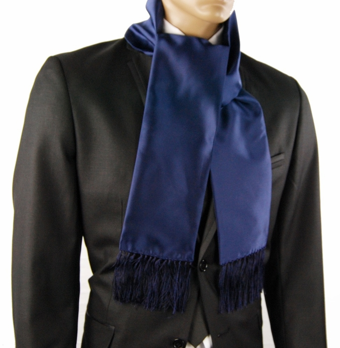 Navy Blue Mens Fashion Scarf SC100G Fashion Scarf Men