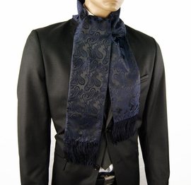 Navy Blue Paisley Men's Scarf (SC276-I)