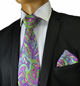 Necktie and Pocket Square by Verse 9 , 100% Silk