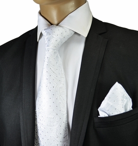Necktie and Pocket Square by Verse9. Big Knot . 100% Silk