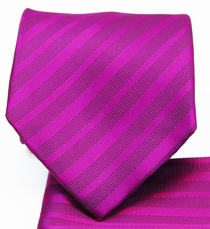 Necktie and Pocket Square . Plum on Plum Stripes (MT4014-G)