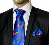 Necktie and Pocket Square by Verse 9. Big Knot, 100% Silk