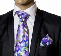 Necktie and Pockety Square by Verse9 . Big Knot . 100% Silk