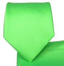 Neon Green Necktie and Pocket Square Set (Q100-WW)