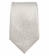 Off-White Slim Silk Tie by Paul Malone