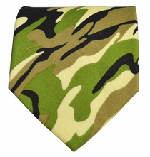 Olive Camouflage Cotton Tie by Paul Malone Red Line
