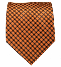 Orange and Black Mens Tie