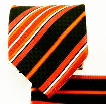 Orange and Black Necktie Set (Q581-H)