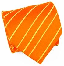 Orange & Gold Paul Malone Silk Necktie (884)