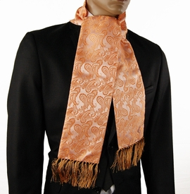 Orange Paisley Men's Scarf (SC276-G)