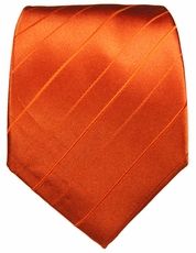 Orange Paul Malone Neck Tie, 100% Silk (622)