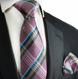 Orchid Haze Paul Malone Silk Tie and Pocket Square Set