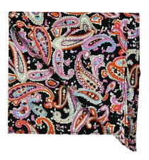 Paisley Cotton Pocket Square by Paul Malone Red Line