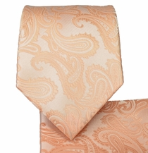 Pale Coral Necktie and Pocket Square (Q600-DD)