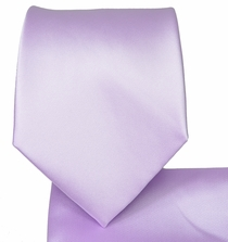 Pale Lavender Necktie and Pocket Square (Q100-VV)