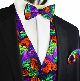 Party Vest Set with Bow Tie and Pocket Square